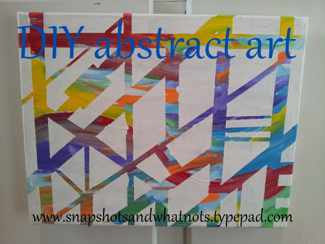 DIY abstract art - how to finish a painting you don't love yet