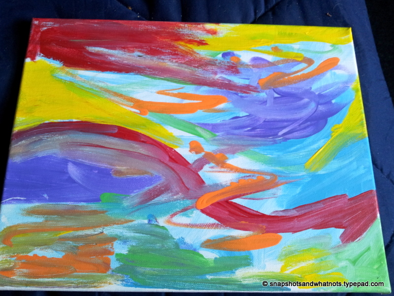 i attempted my own abstract art recently i grabbed fun bright colours and mixed them and blended them and then one i thought i was done i left the painting