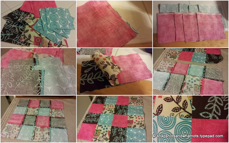 Patchwork cushion top