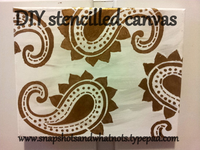 DIY stencilled art