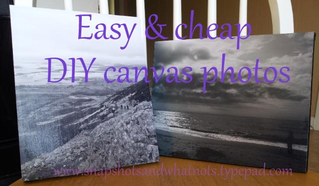 Easy and cheap DIY canvas photos