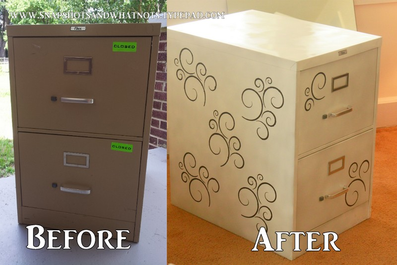 new concept 583a5 3bbbb Filing cabinet makeover {cheap storage idea} - SnapShots ...