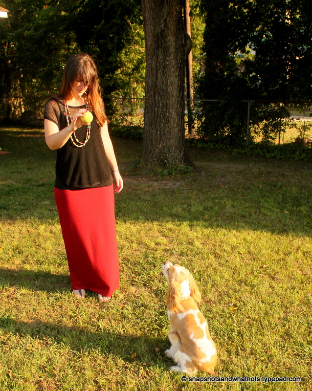 Beginner sewing project - a maxi skirt (3)