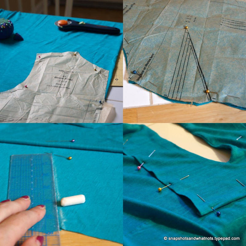 Making the teal top