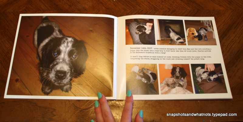 Blurb photo book - page 3&4