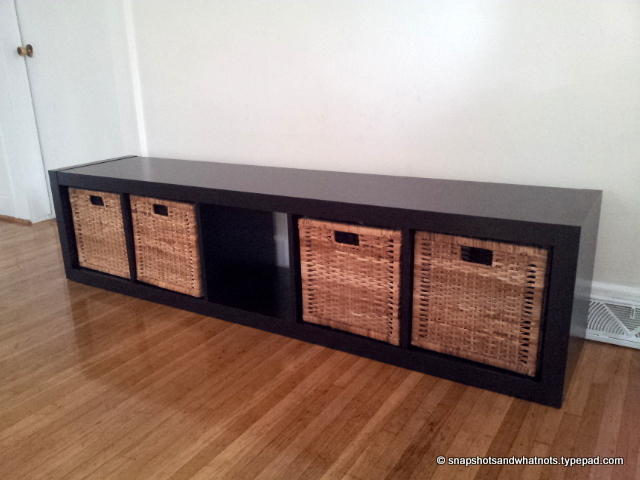 Exceptional IKEA Hack   Expedit Bookcase To Bench With Removable Cushion Cover