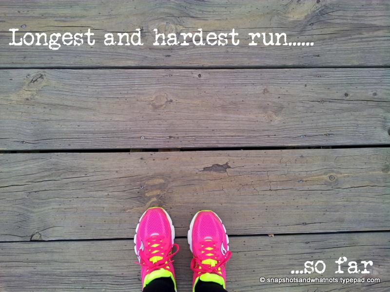 Half-marathon training - longest and harest run so far (1)