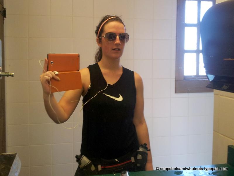 Running selfie - snapshotsandwhatnots