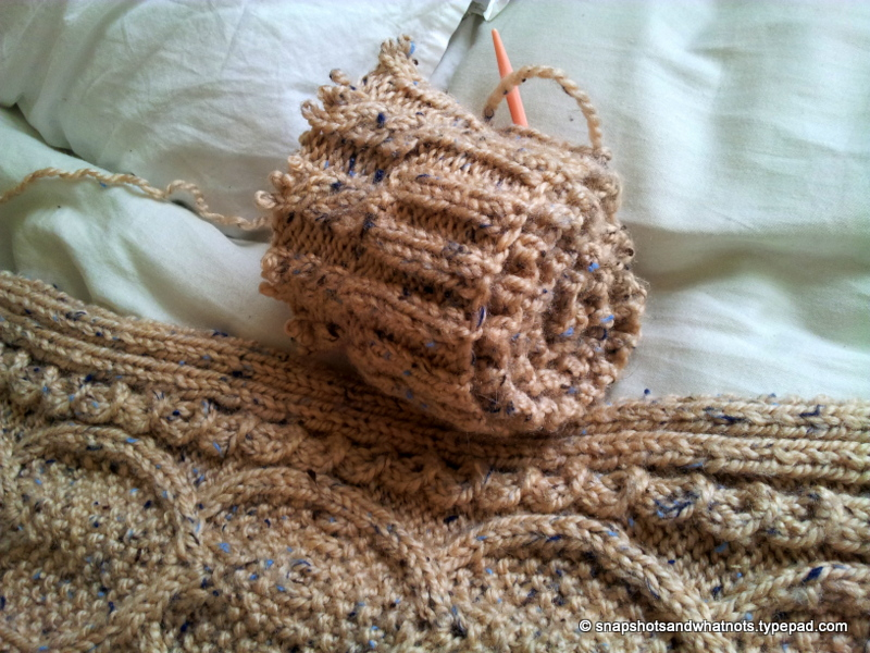 Cable knit blanket  (2)