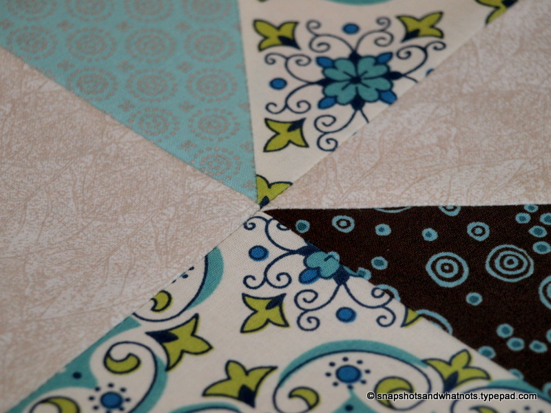 Second quilt update - turning squares into a finished quilt top (6)