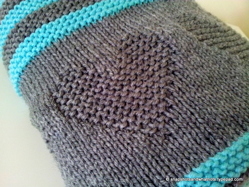 Knitted baby blanket  (3)