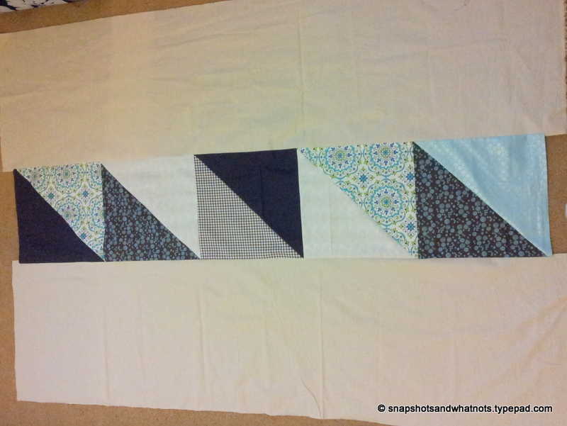 Sewing a quilt - fixing stupid mistakes and basting (2)