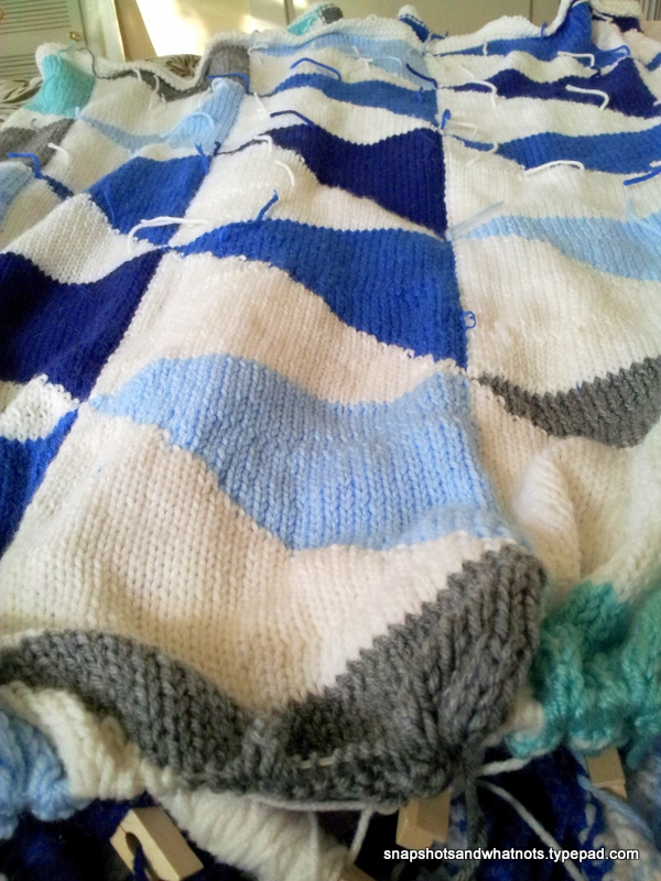 Knitted Patchwork blanket - snapshotsandwhatnots (1)