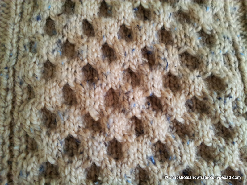 Cable knit blanket  (4)