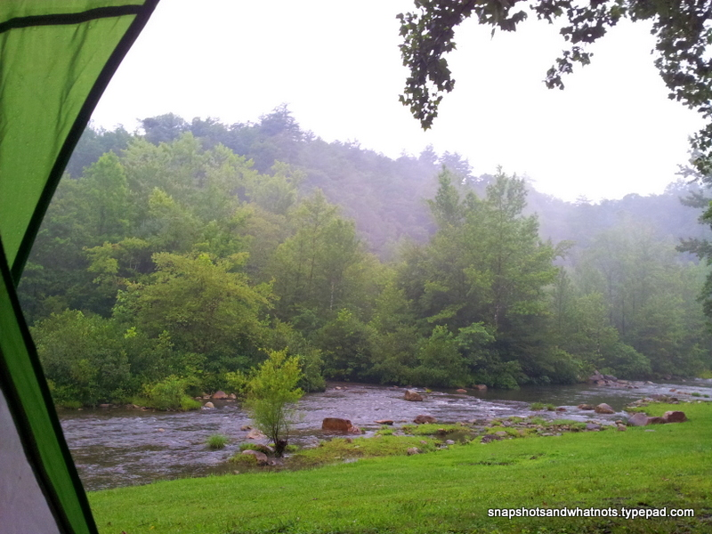 Camping trip in the rain to Brown Mountain Beach Resort in NC (1)