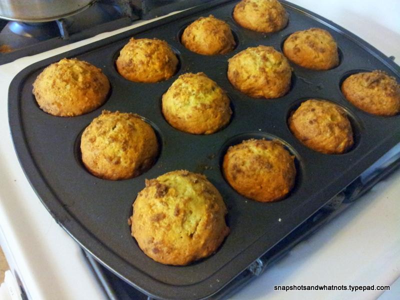 Freashly baked banana muffins