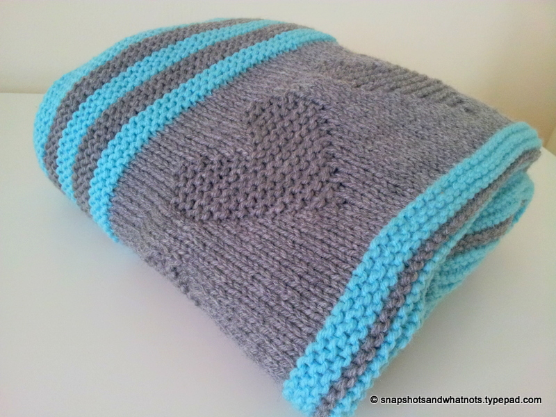 Valentines Inspired Knitted Baby Blanket Snapshots Whatnots