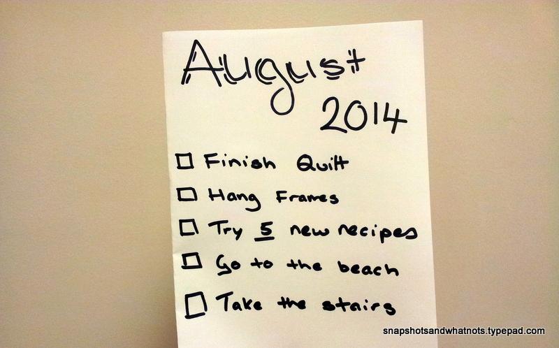August 2014 - monthy goals