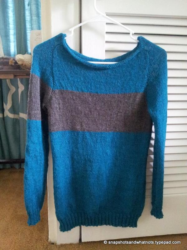 First knitted sweater complete #sskal14 snapshotshotsandwhatnots (5)