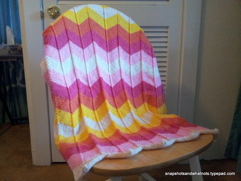 Chevron baby blanket - SnapShots & WhatNots