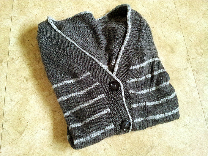 The Paulie Cardigan - a free stripey cardigan pattern  (4)