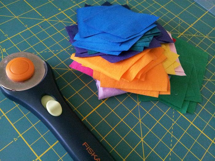 Practising piecing with fabric scraps (1)