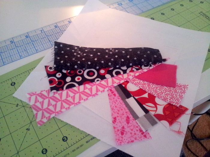 Paper piecing a heart block - a wip (12)