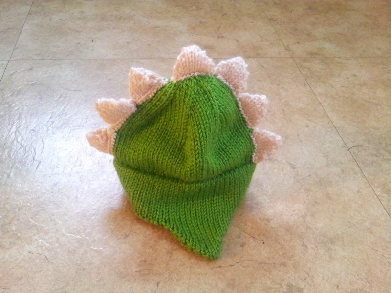 A newborn gender neutral dinosaur themed hat (2)