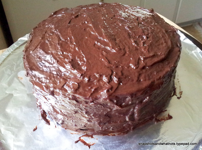 Chocolate cake with dark chocolate ganache - snapshotsandwhatnots