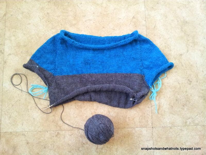 Knitting a sweater  (1)