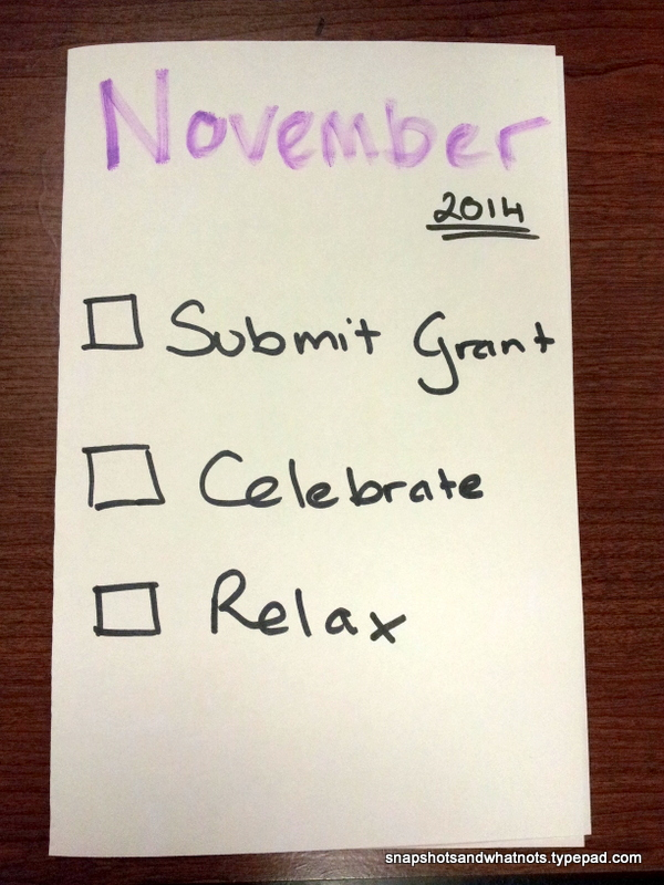 November 2014 - monthly goals
