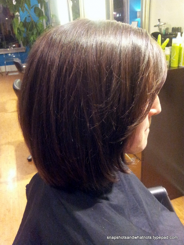 Donating hair - long to bob haircut (4)