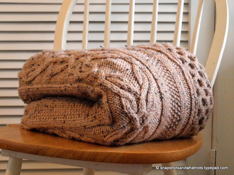 Huge Cable knit blanket -snapshotsandwhatnots (5)