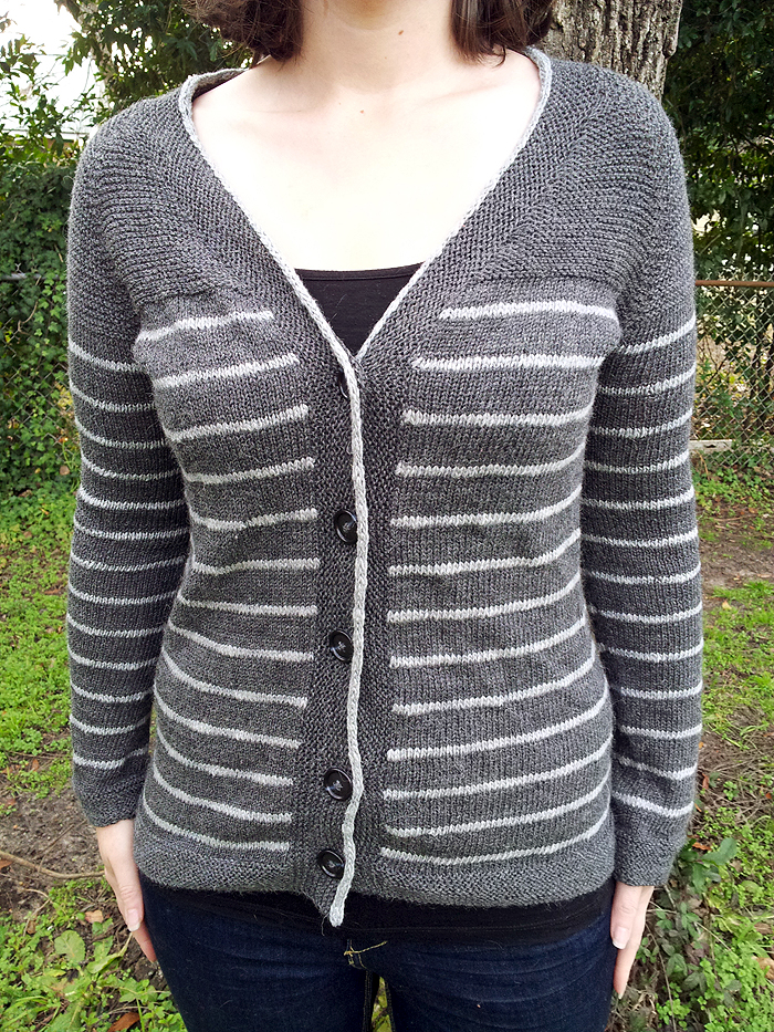 The Paulie Cardigan - a free stripey cardigan pattern  (1)