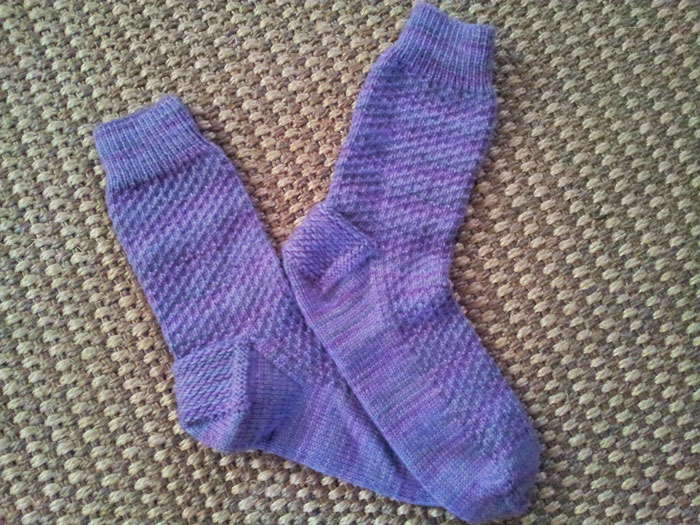 Knitting project 2 of 15 in 2015 - Hermione socks (3)