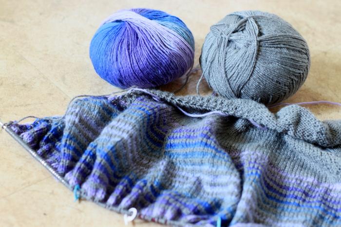 Progress on the Daybreak shawl (2)