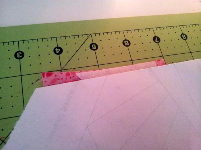 Paper piecing a heart block - a wip (4)