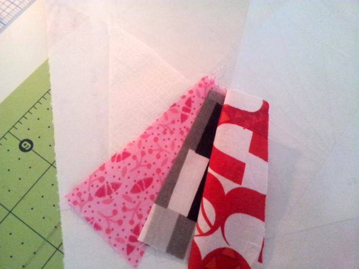 Paper piecing a heart block - a wip (11)