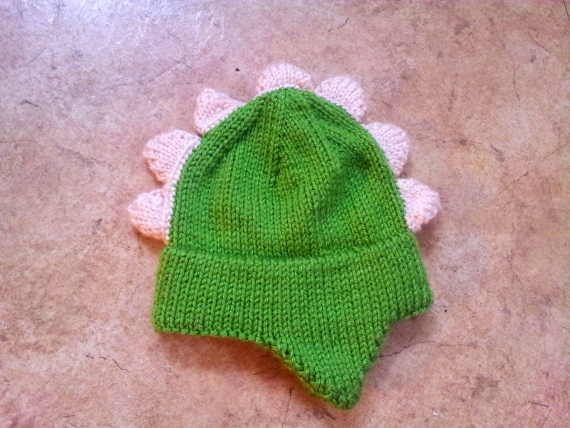 A newborn gender neutral dinosaur themed hat (1)