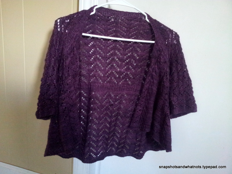 Hitofude cardigan in Madalinetosh light yarn (1)