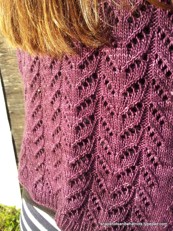 Hitofude cardigan in Madalinetosh light yarn (4)