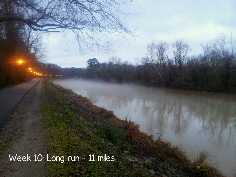 Week 10 half marathon training - 11 mile run