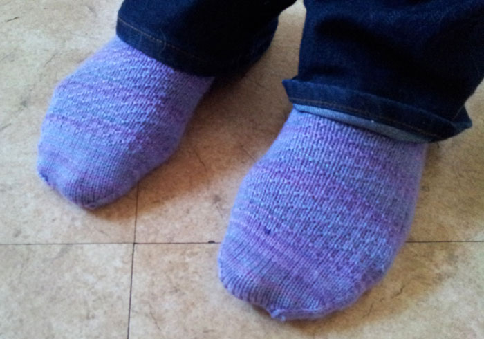 Knitting project 2 of 15 in 2015 - Hermione socks (2)