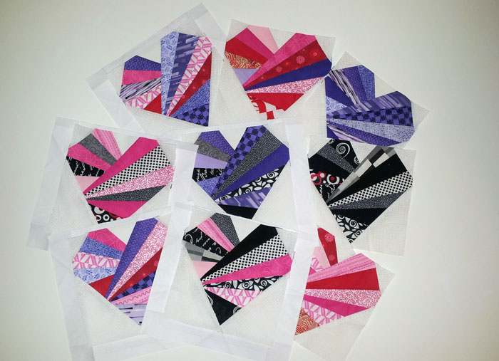 WIP paper pieced heart quilt (1)
