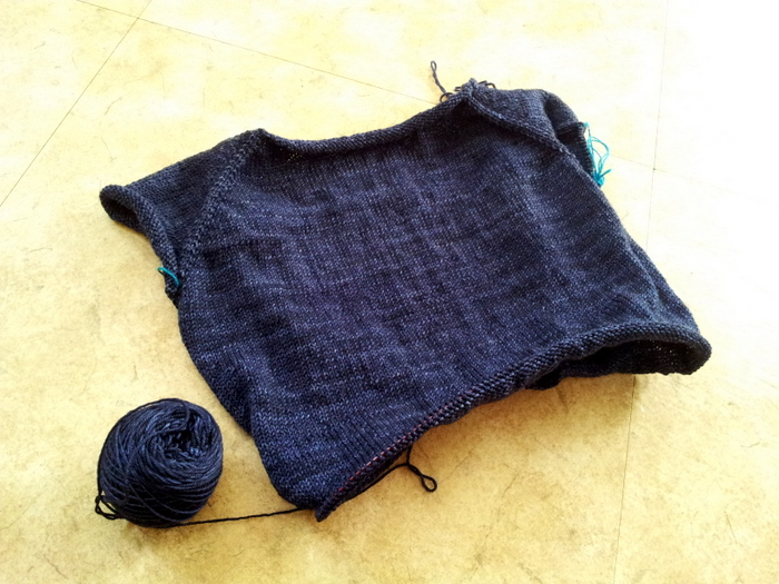 Featherweight cardigan in progress