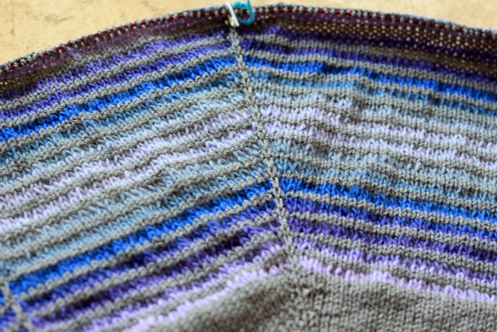 Progress on the Daybreak shawl (1)