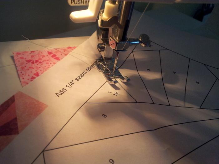 Paper piecing a heart block - a wip (5)