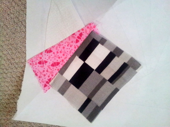 Paper piecing a heart block - a wip (10)